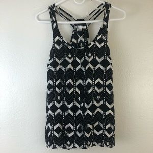 Volcom Sleeveless Black and White Top size S